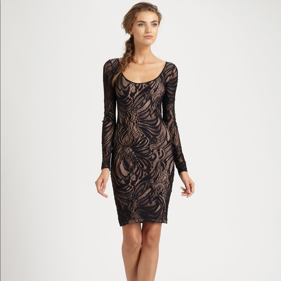 Bcbg Maxazria Black Tanya Lace Dress